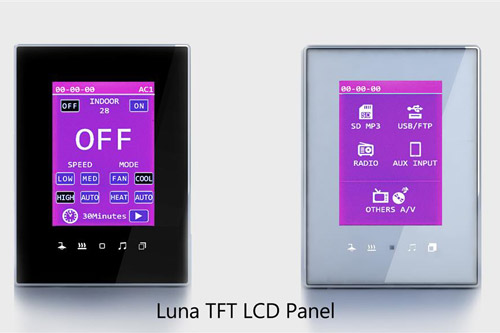 tis luna black white panel